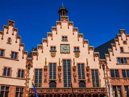 High dynamic range HDR Frankfurt city hall aka Rathaus Roemer Germany