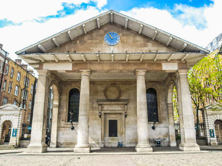 covent: High dynamic range HDR Saint Paul church in Covent Garden, London, UK