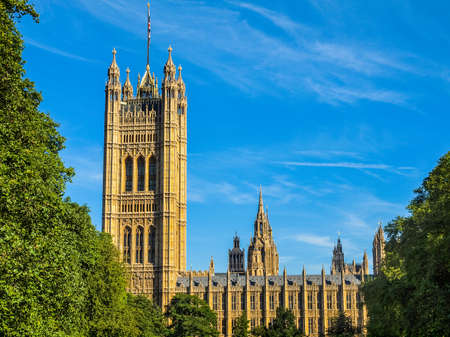 bigben: High dynamic range HDR Houses of Parliament Westminster Palace London gothic architecture Editorial