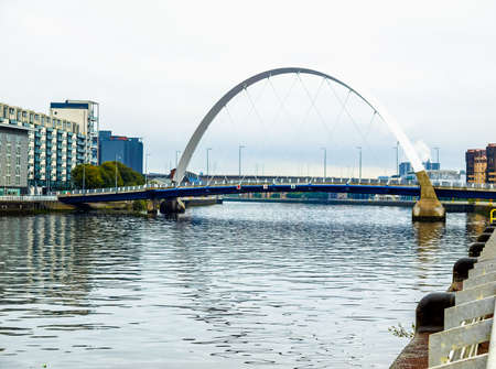 High dynamic range HDR The River Clyde in Glasgow city, Scotland