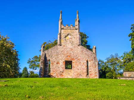 dom: High dynamic range HDR Ruins of Cardross old parish church and churchyard, near Glasgow in Scotland