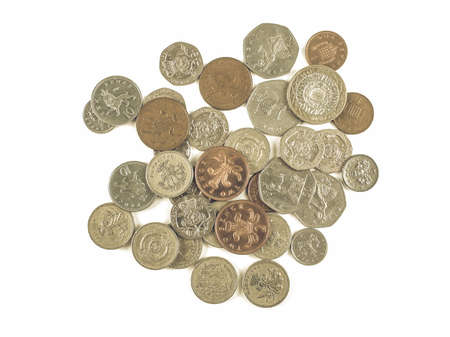 Vintage looking Pound coin (currency of the United Kingdom) Stock Photo