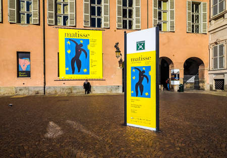 henri: TURIN, ITALY - CIRCA MARCH 2016: Entrance to the Henri Matisse exhibition at Palazzo Chiablese (HDR) Editorial