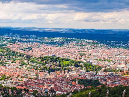 Alto rango dinámico HDR Vista de la ciudad de Stuttgart en Alemania