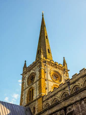 High dynamic range HDR Holy Trinity church in Stratford upon Avon, UK