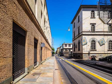 arturo: TURIN, ITALY - CIRCA MAY 2016: Auditorium RAI music hall designed by architect Carlo Mollino in 1958 dedicated to music director Arturo Toscanini (HDR)