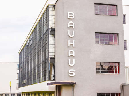masterpiece: DESSAU, GERMANY - JUNE 13, 2014: The Bauhaus art school iconic building designed by architect Walter Gropius in 1925 is a listed masterpiece of modern architecture (HDR) Editorial