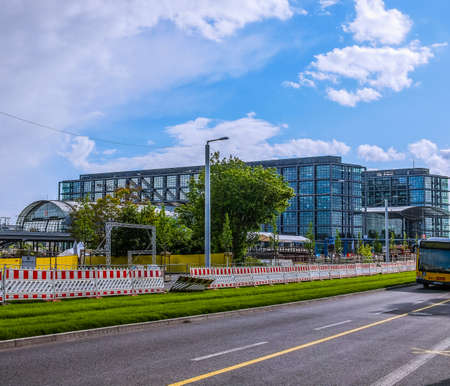 largest: BERLIN, GERMANY - MAY 11, 2014: The new Berlin Hauptbahnhof central station is the largest railway station in Germany (HDR)