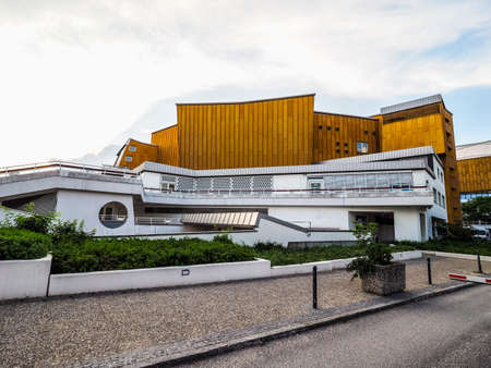 concert hall: BERLIN, GERMANY - CIRCA JUNE 2016: The Berliner Philharmonie concert hall designed by German architect Hans Scharoun in 1961 (HDR) Editorial