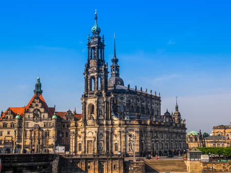holy trinity: DRESDEN, GERMANY - JUNE 11, 2014: Dresden Cathedral of the Holy Trinity aka Hofkirche Kathedrale Sanctissimae Trinitatis (HDR)