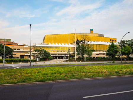 hans: BERLIN, GERMANY - CIRCA JUNE 2016: Staatsbibliothek zu Berlin (meaning Berlin State Library) designed by architect Hans Scharoun (HDR)