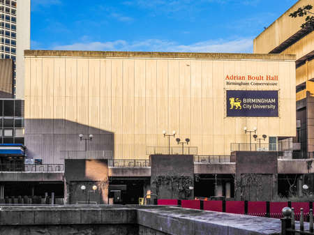 concert hall: BIRMINGHAM, UK - SEPTEMBER 25, 2015: The Adrian Boult Hall is the main concert hall of the Birmingham Conservatoire in Paradise Circus (HDR)