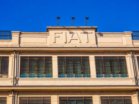 exhibition complex: TURIN, ITALY - JANUARY 24, 2014: The Fiat Lingotto car factory designed by Trucco in 1916 was the largest car factory at the time and still houses the Fiat directional centre and an exhibition complex (HDR)