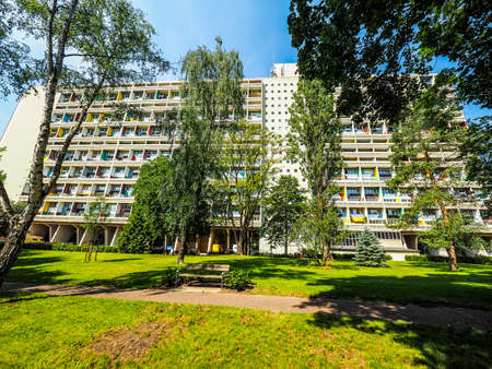 rationalist: BERLIN, GERMANY - CIRCA JUNE 2016: The Corbusier Haus designed by Le Corbusier in 1957 (HDR) Editorial