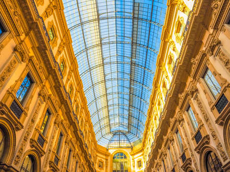 MILAN, ITALY - MARCH 28, 2015: The Galleria Vittorio Emanuele II has been recently restored for the Expo Milano 2015 international exhibition (HDR)
