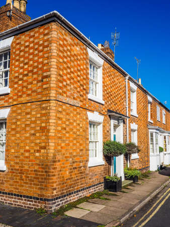 typically: A row of typically British terraced houses aka townhouse (HDR) Editorial