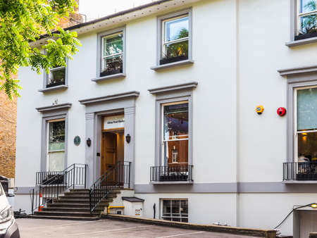 the beatles: LONDON, UK - JUNE 10, 2015: Abbey Road recording studios made famous by the 1969 Beatles album (HDR) Editorial
