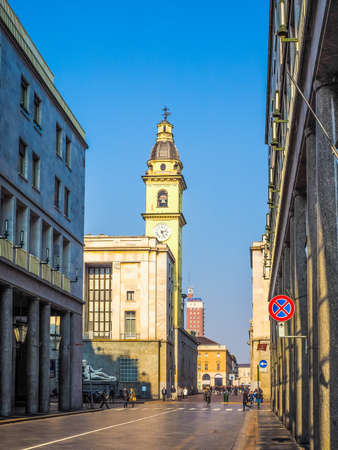 Roma: TURIN, ITALY - FEBRUARY 19, 2015: Via Roma is the main central high street in Turin (HDR) Editorial