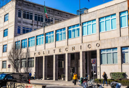 technical university: TURIN, ITALY - FEBRUARY 25, 2015: The Politecnico di Torino meaning Polytechnic University of Turin is the oldest public technical university in Italy, established in 1859 (HDR)