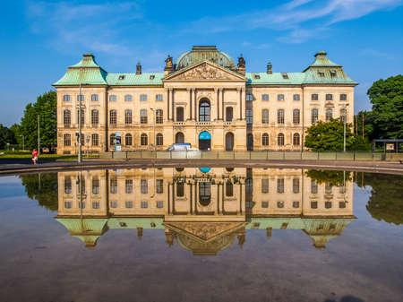meaning: DRESDEN, GERMANY - JUNE 11, 2014: Japanisches Palais meaning Japanese Palace baroque building on the Neustadt bank of the river Elbe built in 1715 (HDR)