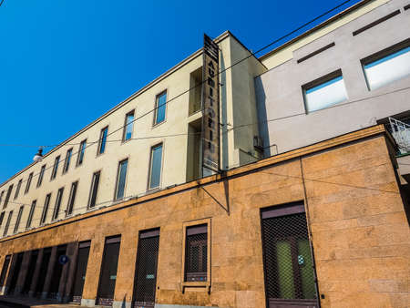arturo: TURIN, ITALY - AUGUST 05, 2015: Auditorium RAI music hall designed by architect Carlo Mollino in 1958 dedicated to music director Arturo Toscanini (HDR)