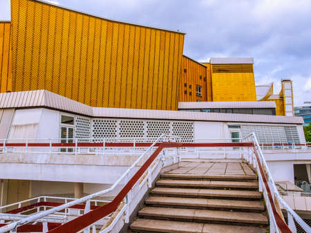 BERLIN, GERMANY - MAY 09, 2014: The Berliner Philharmonie concert hall designed by German architect Hans Scharoun in 1961 is a masterpiece of modern architecture (HDR)