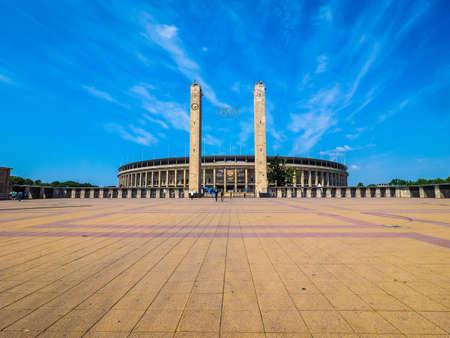 BERLIN, GERMANY - CIRCA JUNE 2016: Olympiastadion (meaning Olympic Stadium) (HDR)