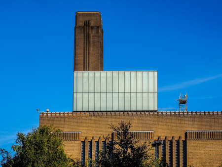 LONDON, UK - SEPTEMBER 28, 2015: Tate Modern art gallery in South Bank powerstation (HDR) Editorial