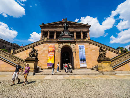 alte: BERLIN, GERMANY - CIRCA JUNE 2016: The Alte Nationalgalerie (meaning Old National Gallery) in the Museumsinsel (meaning Museums Island) (HDR) Editorial