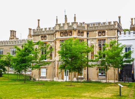 horace: High dynamic range HDR Horace Walpole Strawberry Hill gothic villa built in London Twickenham in 1749 Stock Photo