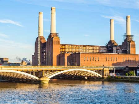 高ダイナミック レンジ ロンドン イギリスで HDR バタシー発電所 写真素材