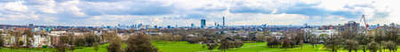 hill range: High dynamic range HDR Panoramic view of the city skyline seen from Primrose Hill