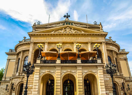 alte: High dynamic range HDR Alte Oper Old Opera House in Frankfurt am Main Germany Editorial