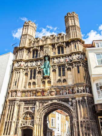 High dynamic range HDR St Augustine Gate in Canterbury England UK