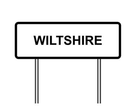 United Kingdom town sign illustration, city of Wiltshire