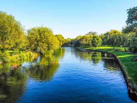 stratford upon avon: High dynamic range HDR River Avon in Stratford upon Avon, UK