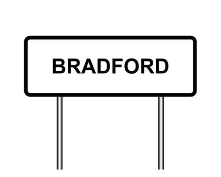 United Kingdom town sign illustration, city of Bradford