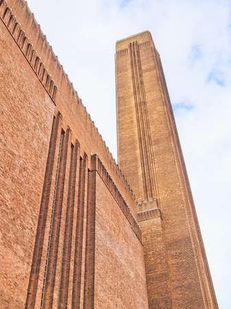 powerstation: High dynamic range HDR Tate Modern art gallery in South Bank powerstation London England UK Editorial