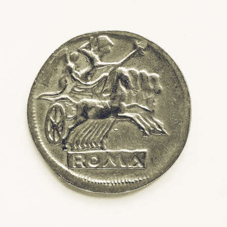 empire: Vintage looking Ancient Roman coin from the Roman Empire