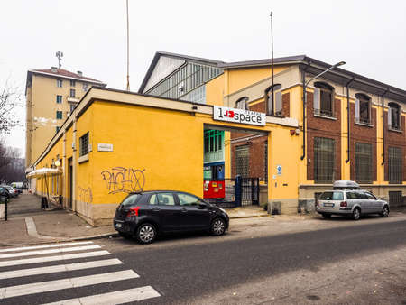 hdr: TURIN, ITALY - DECEMBER 07, 2015: Espace theatre building (HDR)