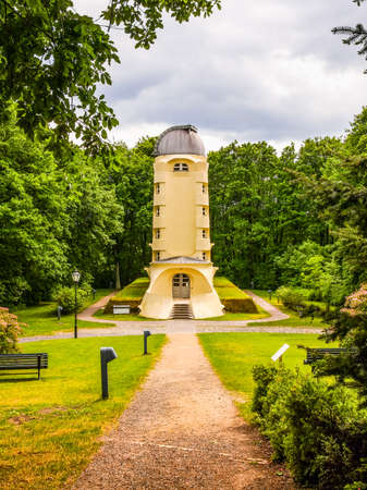astrophysical: POTSDAM, GERMANY - MAY 10, 2014: The Einstein Turm astrophysical observatory was designed by architect Erich Mendelsohn in 1917 for Albert Einstein to validate his Relativity Theory (HDR)