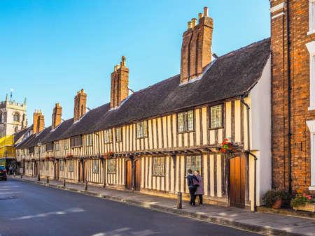 birthplace: STRATFORD UPON AVON, UK - SEPTEMBER 26, 2015: View of the city of Stratford birthplace of Shakespeare (HDR)