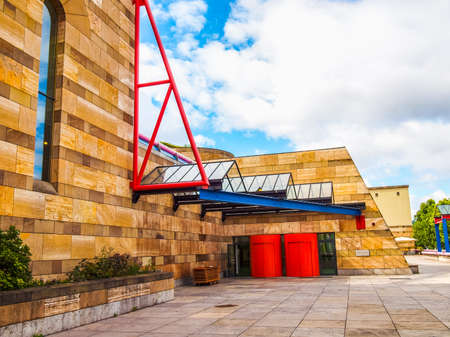 postmodern: STUTTGART, GERMANY - JULY 14, 2012: The Neue Staatsgalerie art gallery is a masterpiece of postmodern architecture designed by British architect Sir James Stirling in 1977 (HDR)