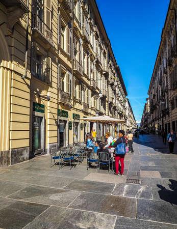 via: TURIN, ITALY - CIRCA MAY 2016: Via Garibaldi high street (HDR)