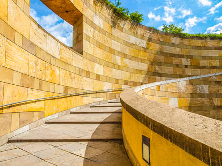 postmodern: STUTTGART, GERMANY - JULY 11, 2012: The Neue Staatsgalerie art gallery is a masterpiece of postmodern architecture designed by British architect Sir James Stirling in 1977 (HDR)