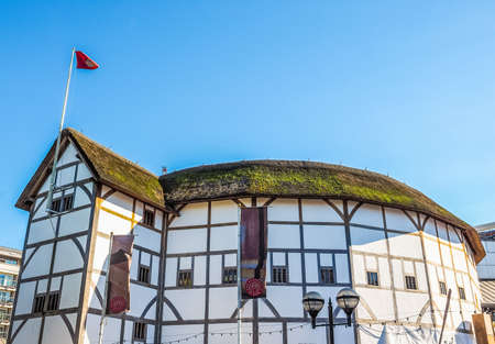 LONDON, UK - SEPTEMBER 28, 2015: The Shakespeare Globe Theatre (HDR) Editorial