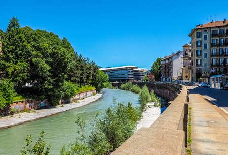 dora: TURIN, ITALY - CIRCA MAY 2016: Einaudi campus of Turin University on River Dora banks (HDR) Editorial