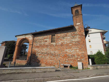cappella: LEINI, ITALY - CIRCA SEPTEMBER 2016: Cappella San Rocco (meaning St Roch chapel)