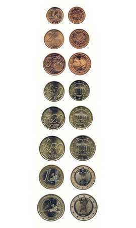 geld: Vintage looking Euro coin (currency of the European Union)