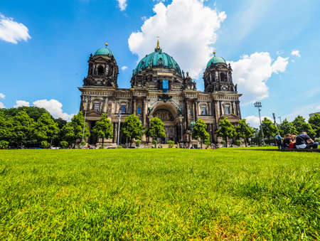 BERLIN, GERMANY - CIRCA JUNE 2016: Berliner Dom meaning Berlin Cathedral church (HDR)